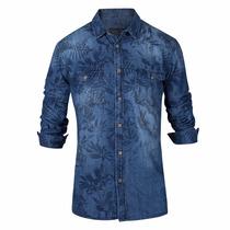 Camisa De Jean Entallada Estampada - Quality Import Usa