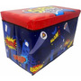 Caixa Organizadora Puff Bau Infantil Brinquedo Para Guardar