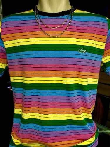 5f78b845855e5 Camiseta Lacoste Arco Iris Nova Estoque ! ! Masculina - R  59,99 em Mercado  Livre