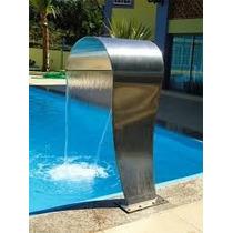Cascata Para Piscina Em Inox High-tech Modelo Naja 105cm