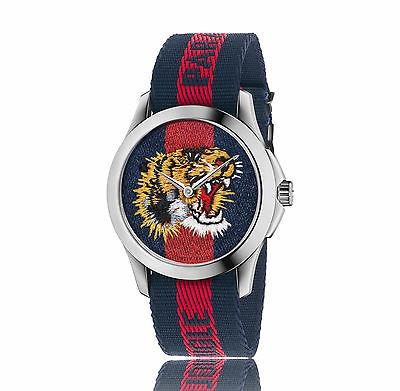 f99fbde48 nuevo gucci reloj de hombre con correa de nailon tiger de... ...