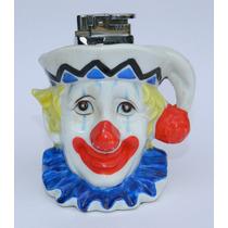 Vintage Encendedor De Payaso En Ceramica De Coleccion!!!
