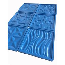 Molde Forma Silicone Gesso Placa Parede42x42cm 6peças+brinde