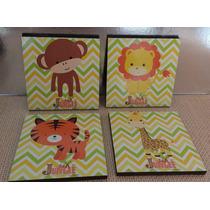 Cuadros Decorativos Para Bebe - Niño (4 Pz) Vinilo