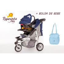 Carrinho De Bebê Baby Happy Três Rodas