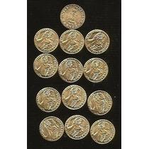 13 Monedas De Maximiliano Oro Laminado
