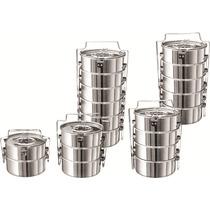 Jogo De 6 Marmitas Em Alumínio Premium - N°16 - 7,2 Litros