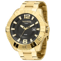 Relógio Masculino Analógico Technos, Aço Dourada 2315aao/4p