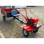 Motocultivador Com Carreta Agricola, Microtrator, Tratorito