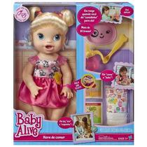 Boneca Hora De Comer Loira Baby Alive - Original Hasbro