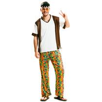 Disfraz Hippie Hombre Retro 70s Antro Peace Amor Y Paz 80s