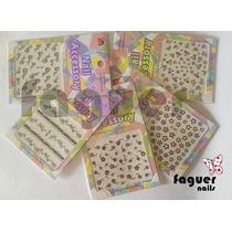 10 Planchas Stickers 3d Uñas Deco - Nail Art. Varios Modelos