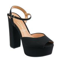 Sapato Sandalia Salto Alto Vizzano Preto 5 Cores P\ Escolher