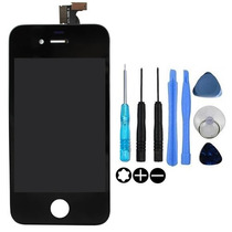Display + Touch Iphone 4/4s Y Tapa Trasera Blanco Y Negro