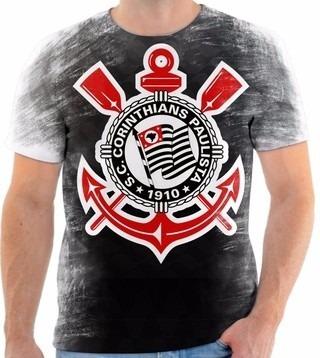 Camiseta Camisa Blusa Personalizada Estampa Corinthians 001 - R  60 ... 9897a3847e8da