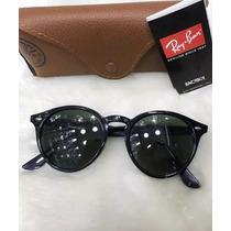 Óculos Ray-ban Round Highstreet Rb2180 Preto Original