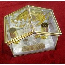 Elegantes, Arras Para Boda Casita De Cristal Moneda Antigua