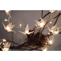 Grullas Origami Ambientación (24 Grullas) Luminata Luces
