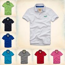 Kit 5 Camisa Camiseta Gola Polo Masculina Hollister Lacost