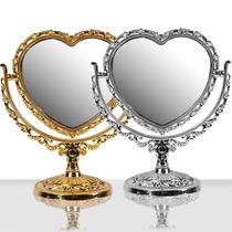 2 Un Espelho De Mesa Coração Maquiagem Lente De Aumento 5x