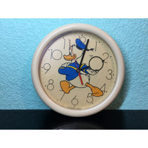 Antiguo Reloj De Pared Pato Donald Colección Quartz Disney