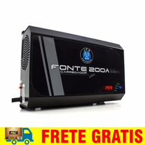 Fonte Carregador Bateria Jfa 200a C/ Voltimetro Digital