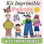 2x1 Kit Imprimible, La Familia Palitos, Mas De 2500 Imagenes