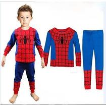 Pijama Infantil Homerm Aranha , Hulk, Homem De Ferro,etc.
