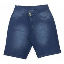 Promoção Bermuda Feminina Jeans Plus Size Blue Com Defeitos
