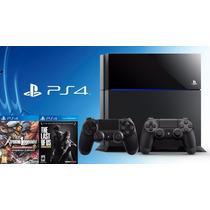 Playstation 4 Ps4 500gb +2 Controles Dualshock+ Juego A Elec