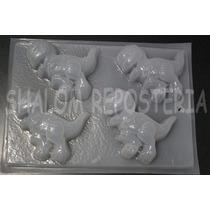 *molde Mediano Gelatinas 4 Tiranosaurio Rex Gran Dinosaurio*