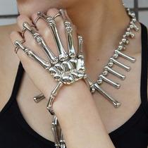 Brazalete De Mano, Esqueleto. Pulsera. Entrega Inmediata.