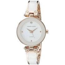 Anne Klein Ak/1980wtrg Mujer Diamond-accented Dial White And