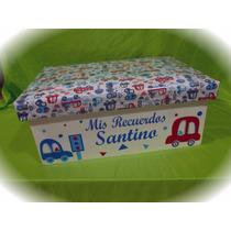 Caja De Madera Con Tapa Forrada, Personalizada 50x35x20 Cm.