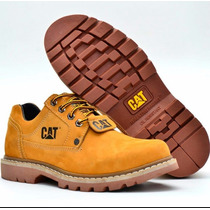 Bota Caterpillar Cat* Em Couro Oil Original A Pronta Entrega