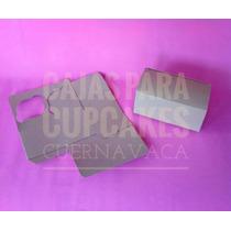25 Cajas 2 Cupcakes Kraft Sin Ventana (panquecito,kekito)