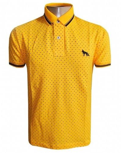 95c5c083a3 Camisa Polo Acostamento Amarela Bolinha - R  99