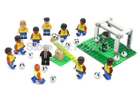 Jogadores Copa Do Mundo Seleção Brasil Compatível Lego 12pçs - R  150 1ae305b35ee7f