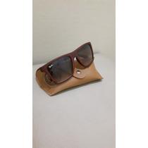 Oculos Tipo Madeira Wayfarer - Marrom Escuro