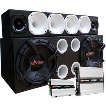 Caixa Trio Sub 12 Spyder Nitro Modulo Taramps Hd1200 Ts400x4