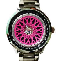 Relógio Roda Bbs Rosa Bateria Sony Máq. Miyota Japan Civic