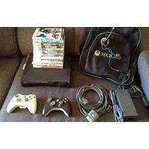 Xbox360 Elite 120gb + Jogos Originais 12x Sem Juros