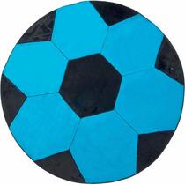 Tapete Em Pelúcia Infantil Big Bola Azul Preto