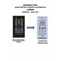 Controle Remoto Receptor De Tv Digital Car Lemon Dual 200
