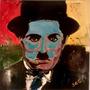 Cuadro Arte Decorativo Retrato Chaplin De Jorge Calvo