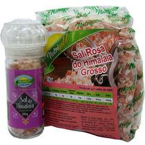 Moedor De Sal Rosa Do Himalaya + 1kg Sal Grosso Nutrigold
