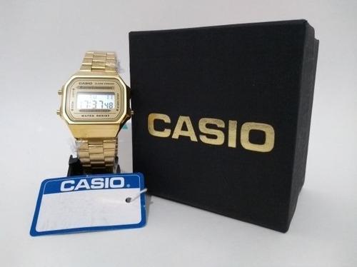 13a24a67c67 Relógio Feminino Dourado Digital Casio Vintage - R  65