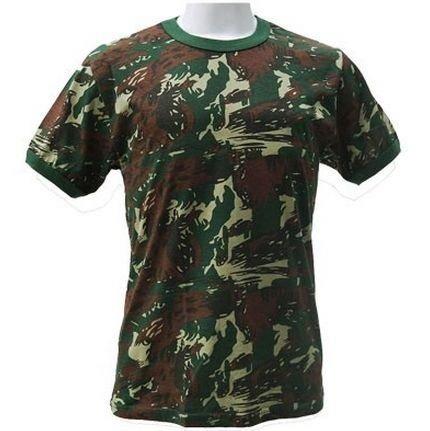 28490dd45 Combo Camisas Camufladas Algodão 3 Unidades + Nome Bordado - R$ 139 ...