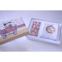 40 Unid Lembrancinha Caixa Decorada Com Toalha E Sabonetes