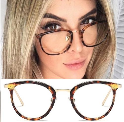 40236d5fc Armação Feminina Para Grau Oculos Retrô Gatinho Vintage - R$ 49,99 em  Mercado Livre